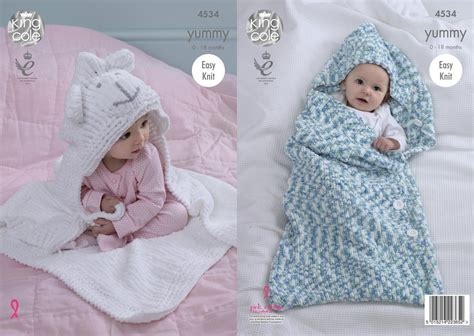 king cole free knitting patterns king cole 4534 knitting pattern babby cocoon blanket in