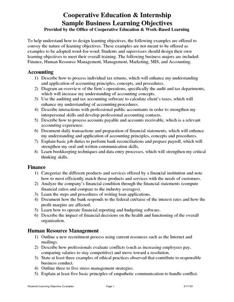 objective letter for resume resume for internship position resume ideas