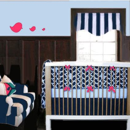 Navy Blue And Pink Crib Bedding Navy Blue And Pink Nursery Ideas