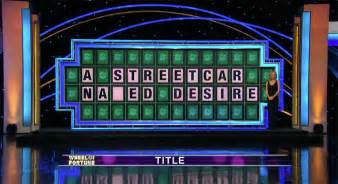 wheel of fortune wheel of fortune s streetcar na ed desire and other