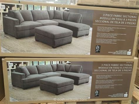 bainbridge fabric sectional with ottoman bainbridge 3 piece fabric sectional