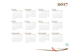calendario anual de 2017 de lunes a domingo office