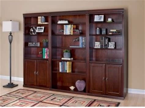 Wall Bookcases With Doors Kathy Ireland Huntington Club Wood Wall Bookcase With Doors Cherry Modern Bookcases By