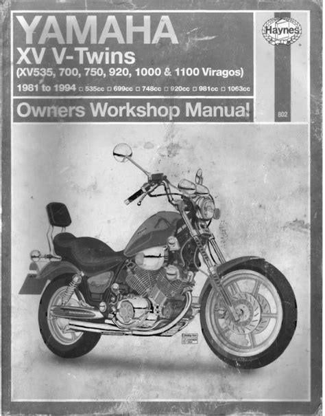 1981-1994 XV535-XV1100 Virago Full Service Manual