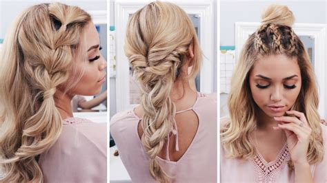 back to school boho hairstyles 3 easy boho spring hairstyles coachella hairstyles