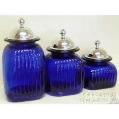 Cobalt Blue Kitchen Canisters by Kitchen Canisters On Canisters Canister Sets