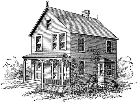 house porch drawing house clipart etc