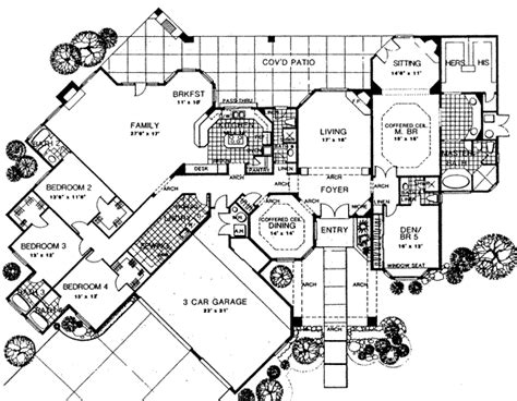 addams family mansion floor plan house 6716 blueprint details floor plans