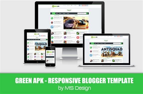 responsive templates for android green apk blogger template absolute themplates