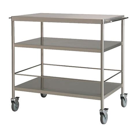 stainless steel kitchen island ikea flytta kitchen trolley stainless steel 98x57 cm ikea