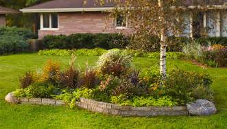 landscaping ideas front yard tree bed