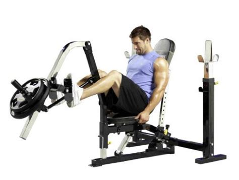 leg press attachment for workout bench review powertec power rack pr11 and utility bench ub11