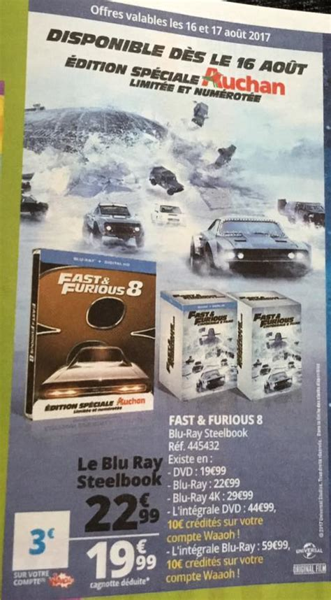 fast and furious 8 plans fast and furious 8 un steelbook exclusif auchan