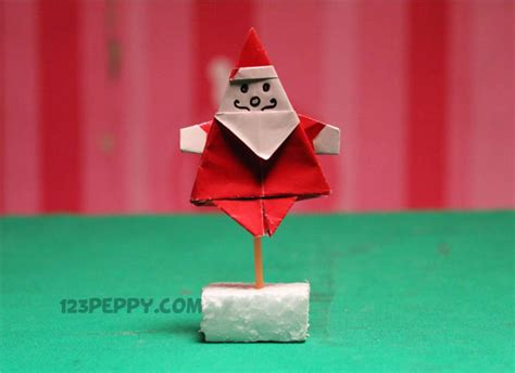 Origami Materials - how to make origami santa 123peppy