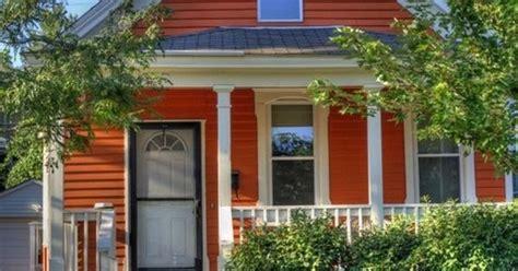 seattle ravenna autumn color craftsman exterior painting orange houses exterior house colors orange house