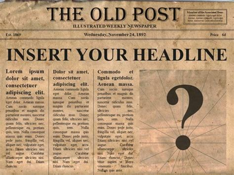 old time newspaper template images