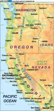 map of west coast usa united states usa map in the