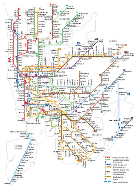 metro map of new york transit map template design elements transport map