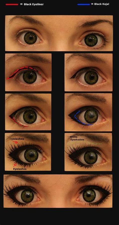 eyeliner tutorial for big eyes diy cat eye makeup pictures photos and images for