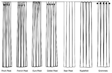 different pleats for drapes types of drapery pleats available through orange county