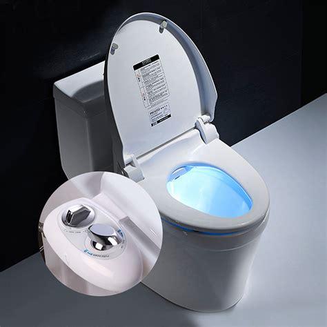 Toilet Bidet Attachment by Non Electric Dual Nozzle Cleaning Bidet Toilet
