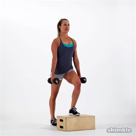 exercises using a step bench dumbbell bench step ups exercise how to workout