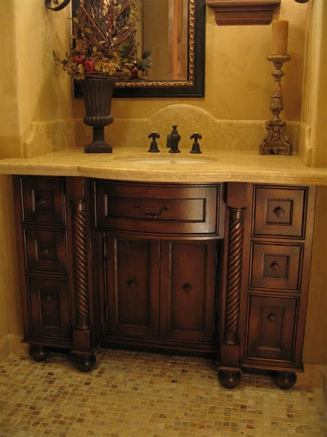 Bathroom Vanity Custom Made Custom Distressed Alder Bow Front Bathroom Vanity By Ps Woodworking Custommade