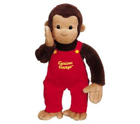 Georges Overall curious george in overalls 12 quot plush by gund qvc
