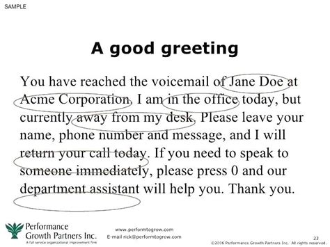 Voicemail Template Greetings Phone Message Templates Business Funny Greeting Exles For Voicemail Greeting Template