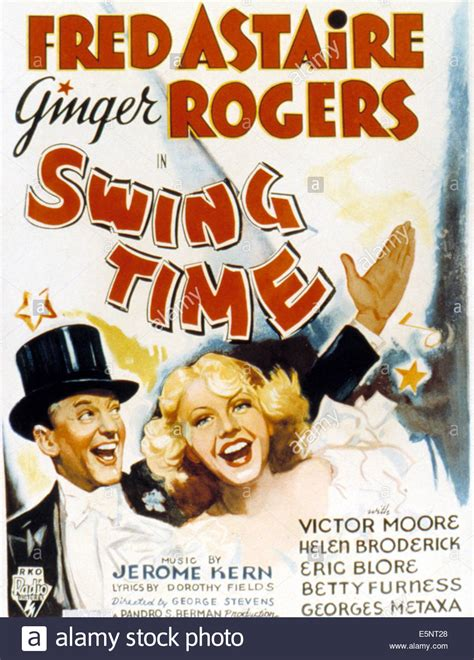 swing time swing time fred astaire rogers 1936 stock photo
