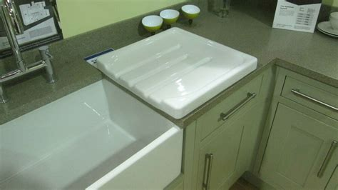 Belfast Sink With Integrated Drainer by Belfast Butler White Ceramic Kitchen Drainer Rrp 163 230 Ebay