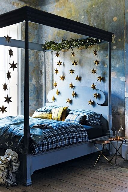 College Bedroom Furniture four poster bed with stars bedroom ideas houseandgarden