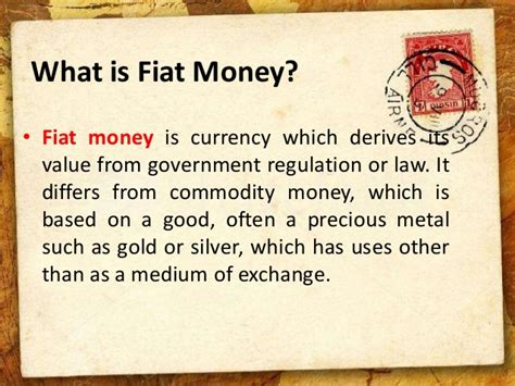 meaning of fiat currency fiat money