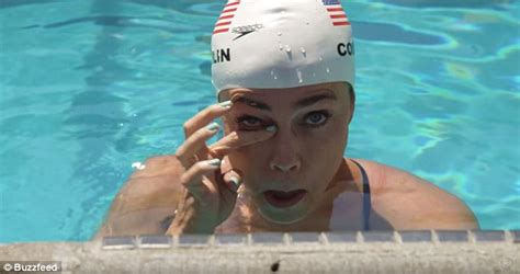 pool running 101 it is actually kind of awesome olympic swimmer natalie coughlin tests waterproof make up
