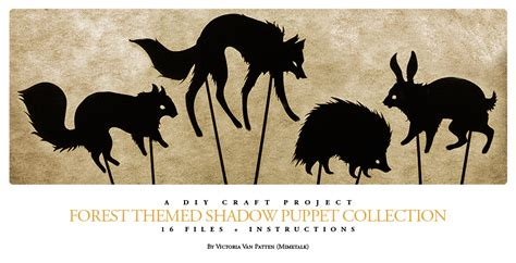 free shadow puppet templates forest themed shadow puppet collection by mimetalk on