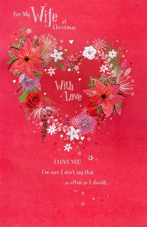 wife traditional christmas greeting card cards love kates