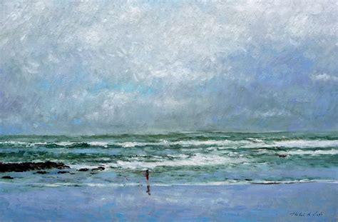 cuadros de marinas pintadas al oleo cuadro al 243 leo de una marina de la playa de comillas en