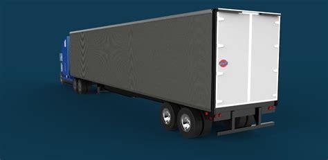 semi truck tautliner   model dwg cgtradercom