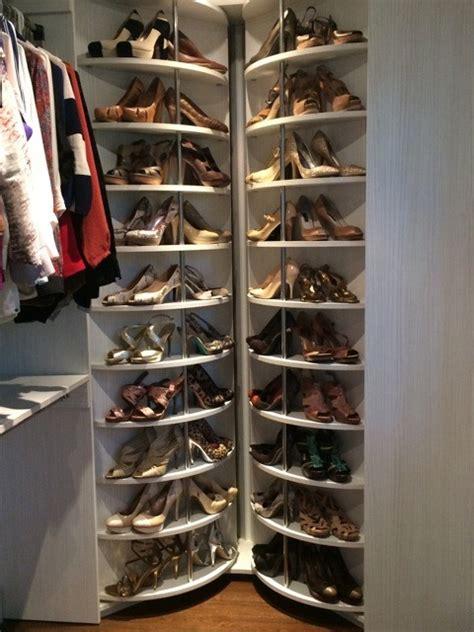 Rotating Closet System by Rotating Shoe Organizer Plans Free