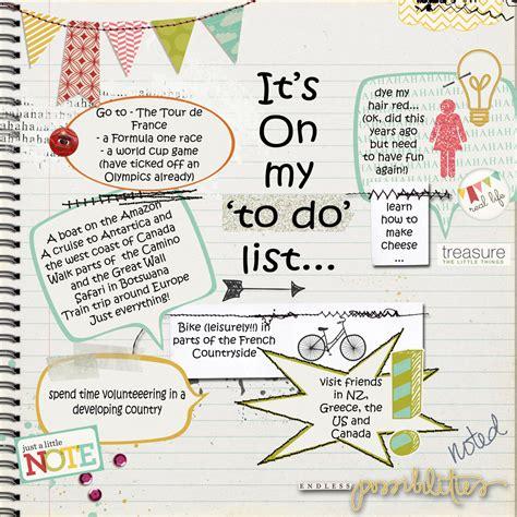 My List Re by Vanilla Scraps My List