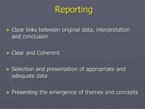 reporting themes in qualitative research ppt quality appraisal of qualitative research powerpoint