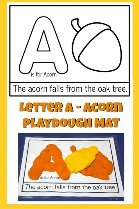 printable fall playdough mats letter a acorn playdough mat fall leaf playdough
