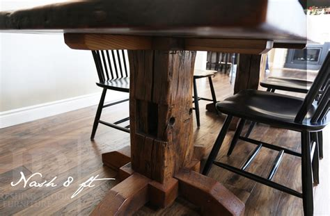 home furniture kitchener reclaimed wood pedestal table in kitchener ontario home hewn beam posts