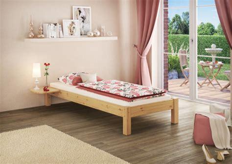 futonbett holz massiv futonbett kiefer massiv 100x200 einzelbett holz natur
