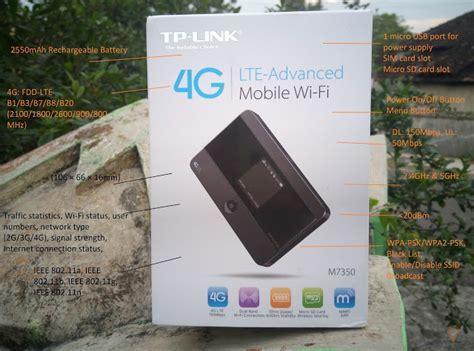 Harga Mifi Tp Link 4g review mifi tplink m7350 mobile wifi 4g dualband pertama