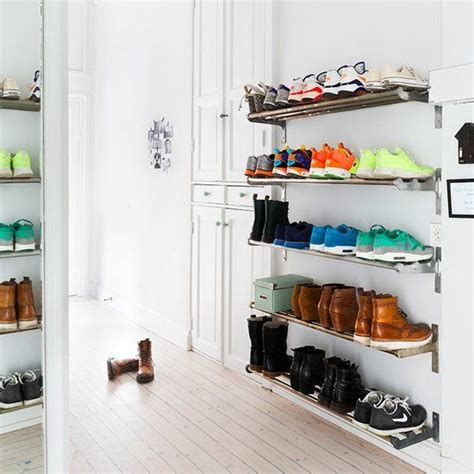 creative shoe storage pin by christi vice akers on my house