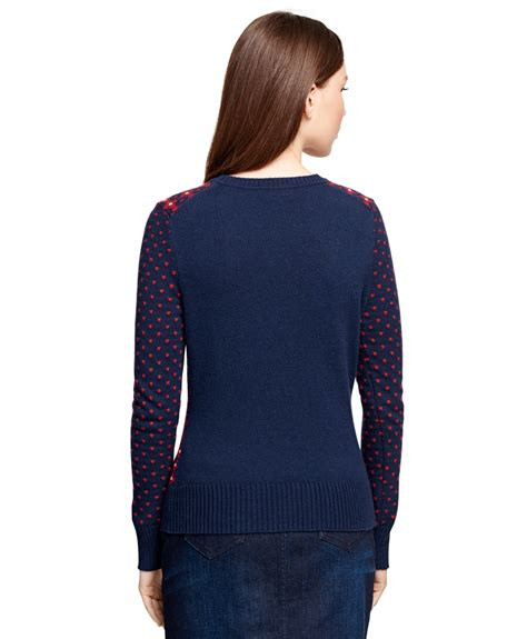 Df Navy Sweater Smile lyst brothers jacquard floral sweater in blue