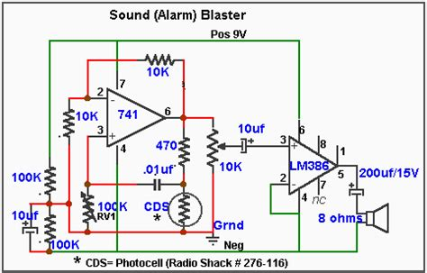 Alarm Motor Sensor Sentuh stand up and fight rangkaian elektronika
