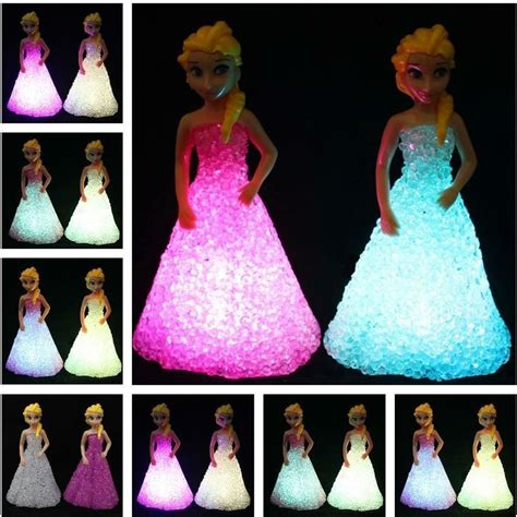 Ao Elsa Outer Grey baby doll toys for elsa toys doll snow 7 led color changing light