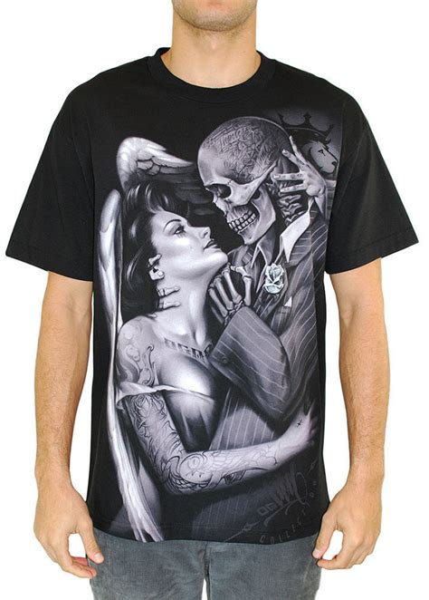 og abel clothing tattoo art t shirts og abel apparel uk og abel clothing locked in game skeleton tattoo ink urban